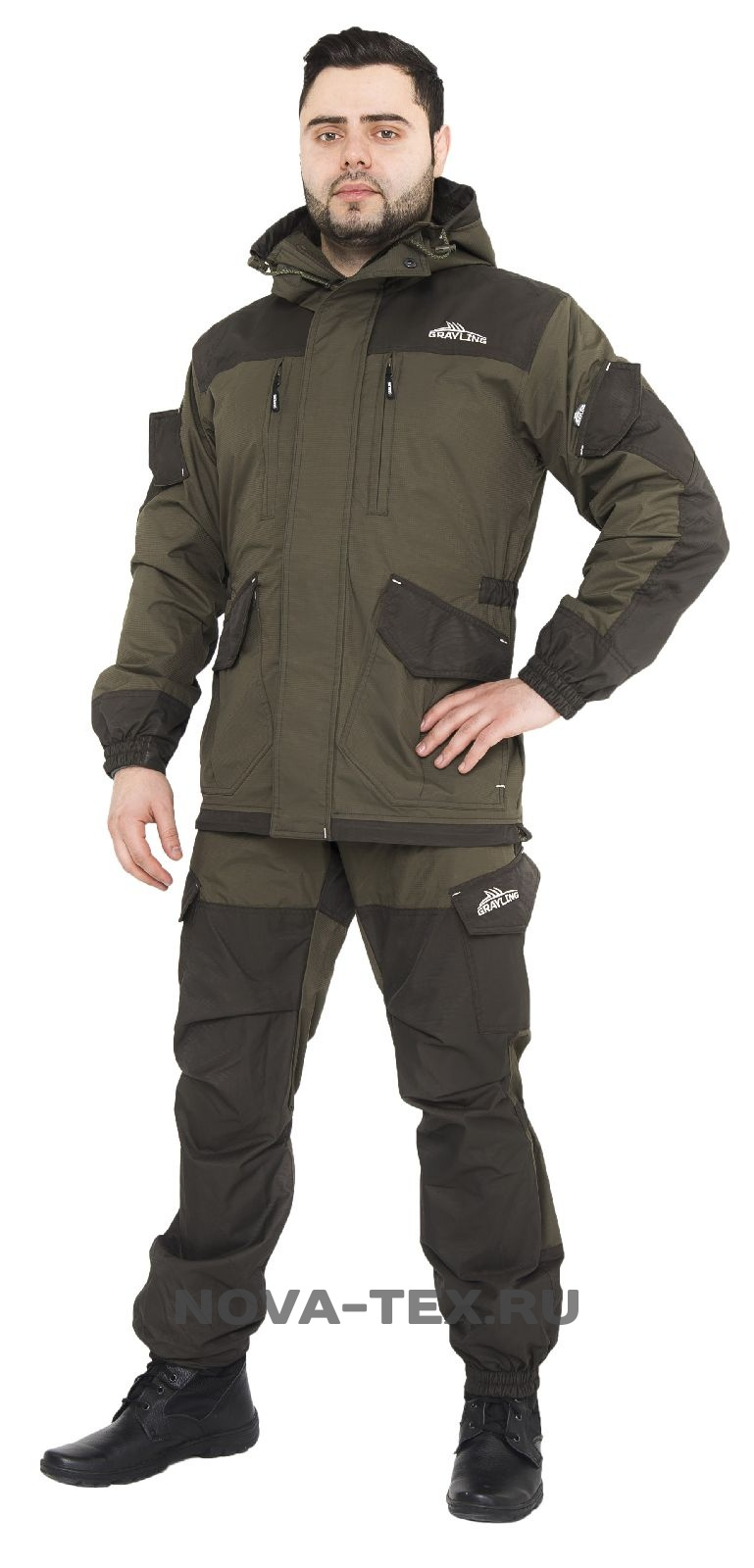 Костюм мужской Скат осень (таслан, хаки), Костюмы неутепленные<br>Костюм «Скат» Осень — относится к элитной <br>рыболовной экипировке коллекции ТМ «Grayling» <br>от компании Novatex. Универсальный костюм «Скат» <br>(дальний родственник знаменитой «Горки») <br>специально адаптирован для людей, увлекающихся <br>рыбалкой. Костюм состоит из длинной куртки <br>и полукомбинезона анатомического кроя. <br>Для изготовления костюма «Скат» Осень применяют <br>современную нейлоновую ткань с мембранным <br>покрытием, с водоупорностью до 5 000 мм вод. <br>ст. Для отделки и армирования используется <br>мембранная ткань «кошачий глаз», которая <br>обладает повышенной износоустойчивостью. <br>Подкладка из флиса гарантирует комфорт <br>и тепло. Костюм «Скат» Осень рекомендован <br>для рыбаков и любителей активного отдыха <br>в весенне-осенний период. Особенности модели: <br>-анатомический крой ткань -мембрана -водонепроницаемость <br>8000 -паропроницаемость 5000 -ветрозащитная <br>ткань -влагозащитная ткань -двойная ветрозащитная <br>планка -двухзамковая молния -капюшон регулируется <br>по ширине -отделка тканью-мембраной -усиление <br>по плечам -усиление на коленях -усиление <br>на локтях -усиление по низу брюк -утяжки <br>в области коленей -утяжки в области локтей <br>-регулируемые подтяжки флисовый подклад<br><br>Пол: мужской<br>Размер: 48-50<br>Рост: 170-176<br>Сезон: демисезонный<br>Материал: мембрана