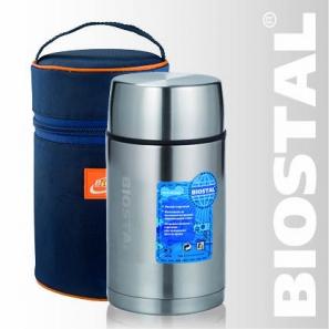 Термос Biostal Авто NRP-800 0,8л (широкое горло,суповой, Термосы<br>С термочехлом для дополнительной теплоизоляции, <br>хранения и переноски термоса Легкий и прочный <br>Сохраняет напитки и продукты горячими или <br>холодными долгое время Изготовлен из высококачественной <br>нержавеющей стали Корпус покрыт защитным <br>прозрачным лаком Предназначен для первых <br>и вторых блюд Гарантия на термос 1 год. Характеристики: <br>Артикул: NRР-800 Объем: 0,8 литра Высота: 17,4 см <br>Диаметр: 10,2 см Вес: 541 г Размеры упаковки: <br>12см х 12см х 19,4см Пищевой термос с широким <br>горлом NRP-800 ТМ «BIOSTAL» относится к серии «АВТО» <br>премиум-класса. Термосы этой серии вобрали <br>в себя самые передовые энергосберегающие <br>технологии и отличаются применением более <br>совершенных термоизоляционных материалов, <br>а так же новейшей технологией по откачке <br>вакуума. Термосы с широким горлом предназначены <br>для хранения горячей пищи (преимущественно <br>вторых блюд), холодной пищи (замороженных <br>продуктов, мороженного и пр.), фруктов и <br>льда. Пробка, обладая дополнительной теплоизоляцией, <br>позволяет термосу дольше хранить тепло. <br>Термосы поставляются в ярком стильном термочехле, <br>изготовленном из современных материалов <br>с повышенными термоизоляционными свойствами. <br>Назначение чехла помимо хранения и переноски <br>термоса - увеличить время хранения тепла <br>в термосе в температурном диапазоне, заявленном <br>в его технических показателях.<br>