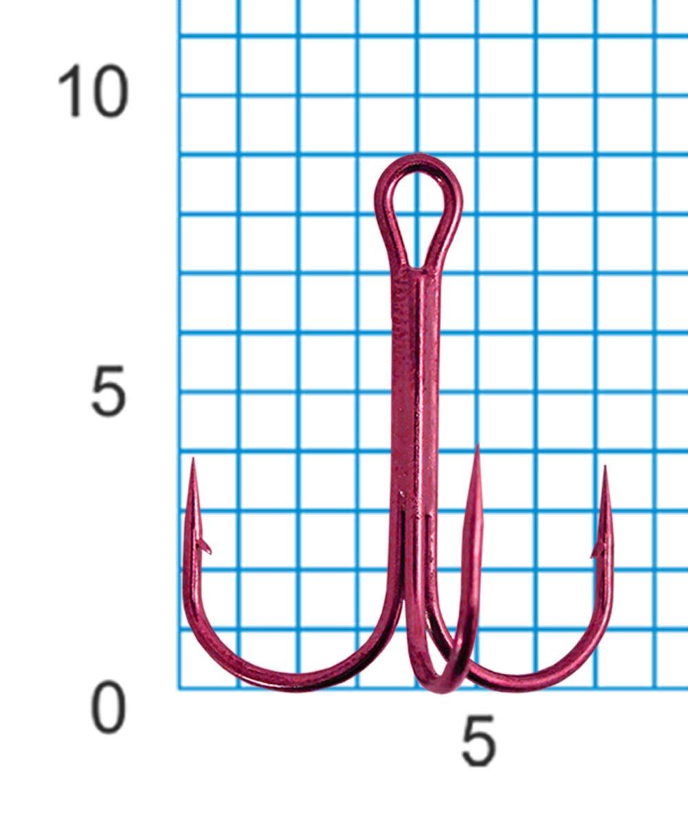 Крючок тройной SWD SCORPION TREBLE №16RED (30шт.)Тройники<br>Бюджетный тройной крючок. Технологии производства: <br>- для производства крючков используется <br>высококачественная углеродистая легированная <br>проволока; - применяются новейшие технологии <br>термообработки; - стойкое антикоррозийное <br>покрытие; - электрохимическая заточка жала. <br>Размер тройного крючка - №16 Цвет - красный <br>Количество в упаковке - 30шт.<br>