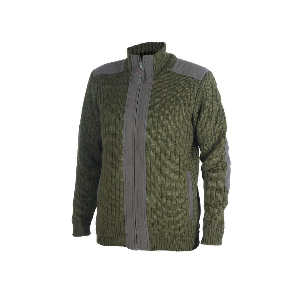 Куртка ХСН трикотажная (713-1) (Оливковый, Джемпера<br>Куртка выполнена из пряжи-двунитки плотным <br>комбинированным переплетением. Изделие <br>хорошо защищают организм человека от холода. <br>Особенности: - застегивается на молнию; <br>- высокий воротник; - 2 кармана; - выполнена <br>из пряжи-двунитки плотным комбинированным <br>переплетением; - эластичные манжеты и низ; <br>- тканевые вставки для длительного ношения.<br><br>Пол: мужской<br>Размер: 52/176<br>Сезон: все сезоны<br>Цвет: оливковый<br>Материал: 30% шерсть, 70% синтетика