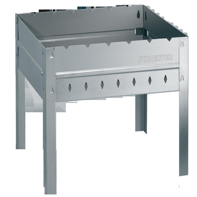 Мангал FORESTER MOBAIL. 40х30х40 см разборный со складным Мангалы<br>толщина стенок 0,7мм и ребра жесткости придают <br>конструкции дополнительную прочность благодаря <br>разборному складному дну удобен в транспортировке <br>и обеспечивает компактное хранение раздувайка <br>на обратной стороне коробки мангал имеет <br>рабочую поверхность 40х30 см вес 2,6кг Страна <br>производтсваь Россия<br>