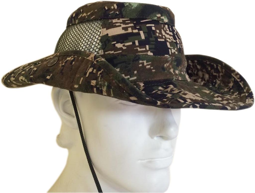 Шляпа ХСН «Фазан» (9243-0) (Цифра кмф, 60, 9243-0)Шляпы<br>Идеальный вариант для загородных поездок, <br>на природу, в путешествие, на рыбалку - охоту. <br>Изготовлена из хлопка. Защитит от солнца <br>- насекомых. Комфортная температура эксплуатации: <br>от +15°С до +25°С. Особенности: - поля пристёгиваются <br>к тулье на кнопки; - вставка из сетки для <br>вентиляции; - для удобного ношения снабжена <br>шнуром.<br><br>Пол: унисекс<br>Размер: 60<br>Сезон: лето<br>Цвет: зеленый<br>Материал: 95% хлопок, 5% спандекс