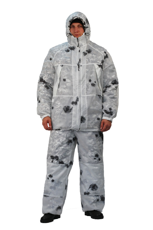 Костюм мужской Nordwig Ink КМФ клякса (Неизвестная Костюмы маскировочные<br>костюм предназначен для маскировки в зимнее <br>время года. - одевается поверх основной <br>верхней одежды - не шуршит. Куртка: - регулируемый <br>капюшон - усилительные накладки на локтях <br>- низ куртки и спина регулируются по размеру <br>при помощи шнура - низ рукавов на резинке <br>Брюки: - усилительные накладки на коленях <br>- пояс брюк на резинке<br><br>Пол: мужской<br>Сезон: зима<br>Цвет: белый<br>Материал: Miсrofiber (100% полиэфир), пл. 120г/м2