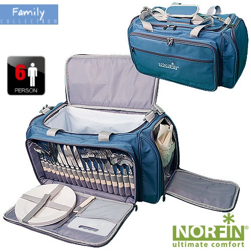 Термосумка Norfin Forssa Nfl С Посуд. На 6 ПерсонИзотермические сумки и термобоксы<br>Термосумка Norfin FORSSA NFL с посуд. на 6 персон <br>Мат.600D polyester, PEVA lining/разм.57х30х29/вес3,5 Сумка <br>с набором для пикника на 6 персон и с легкомоющимся <br>термоотделением для продуктов, объемом <br>28л. Двойные ручки и регулируемый по длине <br>наплечный ремень В комплект входит посуда <br>и принадлежности для пикника: -6 ложек, 6 <br>вилок, 6 ножей -6 тарелок, 6 бокалов -6 тканевых <br>салфеток -разделочная доска -открывалка-штопор <br>-солонка двухсекционная -нож сырный Материал600D <br>polyester, PEVA lining Для сохранности продуктов <br>в охлажденном виде, рекомендуем использовать <br>Аккумуляторы холода арт.: ARAX-10 ; ARAX-15 ; ARAX-30<br><br>Сезон: Летний<br>Цвет: синий