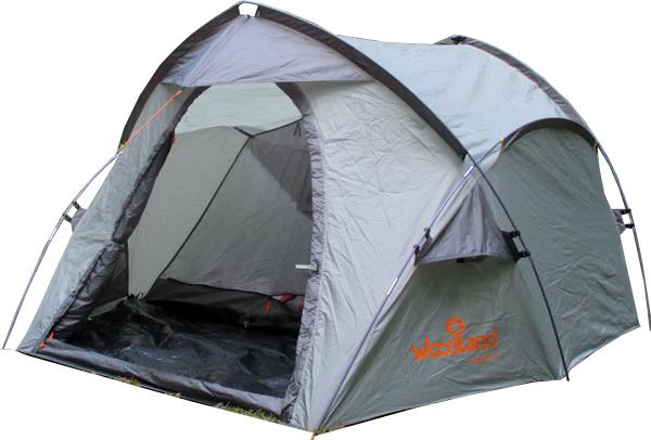 Палатка туристическая WoodLand OASIS 3Палатки<br>• Двухслойная палатка с двумя входами <br>и большим тамбуром. • Вход спального отделения <br>дублирован москитной сеткой. • По всему <br>периметру внешний тент оснащен съемным <br>тамбуром из армированного полиэтилена. <br>Тамбур пристегивается при помощи застежек <br>типа фастекс. • Кармашки для мелочей, крючок <br>для подвески кемпингового фонаря. • Оттяжки <br>со светоотражающей вставкой. • Кармашки <br>для оттяжек. • Удобные пряжки для регулировки <br>длины оттяжек. • Увеличенный тамбур для <br>комфортного размещения поклажи. • Внешний <br>тент палатки устойчив к ультрафиолетовому <br>излучению, ветру и дождю. • Швы проклеены <br>специальной лентой для защиты от проникновения <br>влаги внутрь палатки. ТЕНТ: 100% полиэстер <br>190T/75D 5000 мм вод. ст.. КАРКАС: Fiberglass Durapol ? 8,5 <br>мм ВНУТРЕННЯЯ ПАЛАТКА: 100% дышащий полиэстер <br>ДНО: полиэтилен 120 г/м2 ВЕС: 6,1 кг КОЛИЧЕСТВО <br>МЕСТ: 3<br>