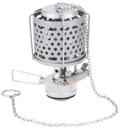 Лампа газовая СЛЕДОПЫТ Звездочка, металл.Светильники<br>Легкая и практичная газовая лампа с пьезоэлектрическим <br>розжигом. Вы можете использовать ее для <br>освещения внутри палатки, а также на открытом <br>воздухе. Лампа оборудована удобной системой <br>для подвешивания, и позволит Вам разместить <br>лампу на наиболее выгодной высоте. Колба <br>лампы изготовлена из металла и поэтому <br>не боится ударов и деформаций. В походном <br>положении лампа размещается в компактном <br>пластиковом кейсе, который защищает лампу <br>от повреждений при транспортировке и хранении. <br>Для питания лампы вы можете использовать <br>газовые смеси в баллонах с резьбовым клапаном <br>(FG-230 и FG-450), а также смеси в цанговых баллонах <br>(FG-220) через переходник PF-GSA-01 ХАРАКТЕРИСТИКИ: <br>Мощность лампы: 1,5 кВт. Вес лампы: 152 гр. Размер <br>лампы в походном положении: 60х 60 х 110 мм. <br>Материал колбы: нержавеющая сталь Пьезоэлектрический <br>розжиг: есть<br>