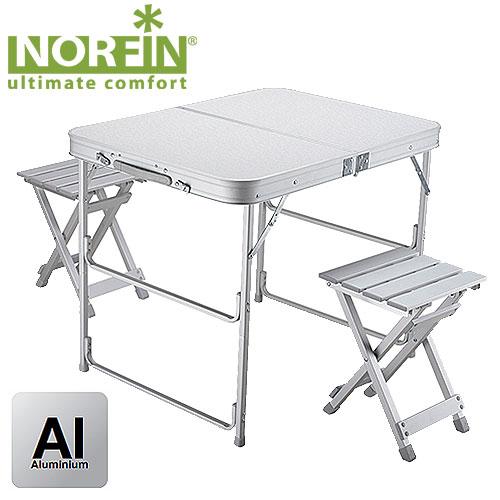 NORFIN Набор мебели: стол складной Boren Nf 80X60 + 2 Стула NF-20309
