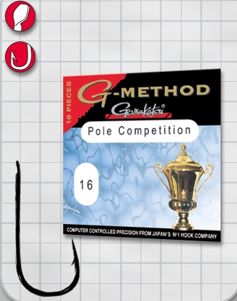 Крючок GAMAKATSU G-Method Pole Competition B №20 (10шт.) gamakatsu g method pole competition