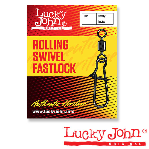 Вертлюги C Застежкой Lucky John Rolling And Fastlock 008 10Шт. LJ5025-008