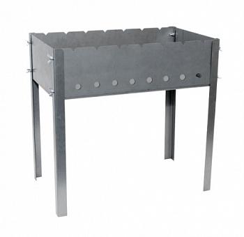 Мангал СОЮЗГРИЛЬ 500x300, сталь 1, 2 мм на барашках Мангалы<br><br>