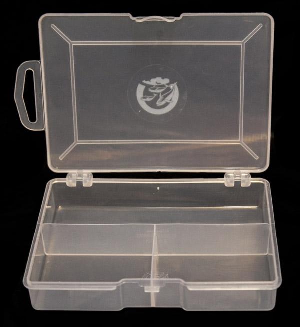 Коробочка СВ-05 (3 отд.) (150*100*26мм)Коробки для приманок<br>Прозрачная коробочка для рыболовных мелочей <br>(3 отделения)<br>