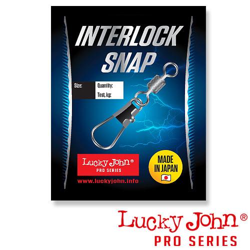 Lucky John Вертлюги C Застежкой Lj Pro Series Rolling And Interlock 010 5Шт. LJP5410-010
