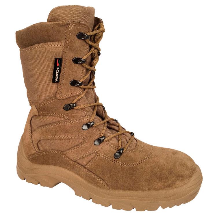 Ботинки кожаные с высокими берцами COBRA Ботинки для активного отдыха<br>Модель подойдет любителям активного отдыха, <br>охоты, рыбалки. Ботинки обладают характеристиками <br>армейской обуви и удобством трекинговых <br>кроссовок. Изготовлены из замши со вставками <br>из особо прочной ткани CORDURA. Особенности: <br>- подкладка из современной многослойной <br>синтетической влагопоглощающей ткани; <br>- износоустойчивая подошва; - вкладные стельки <br>из EVA.<br><br>Пол: мужской<br>Размер: 40<br>Сезон: лето<br>Цвет: сафари