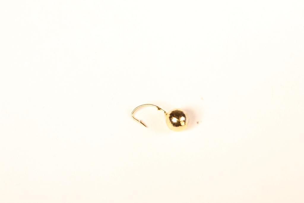 Морм. Вольф.Dixxon-Rus шар с отверстием d3, золото Мормышки<br>Мормышка вольфрамовая для подледной ловли. <br>Крючок - FUDO (Япония) Вес - 0,24 г Цвет - золото<br>