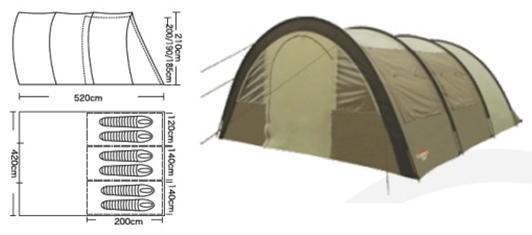 Палатка кемпинговая CAMPACK-TENT Urban Voyager 6 палатка трехместная campack tent breeze explorer 3