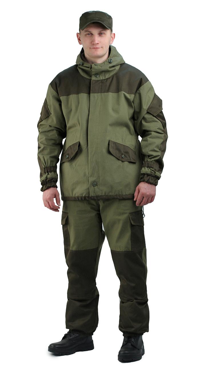 Костюм мужской Горка 3 ТИР демисезонный Костюмы неутепленные<br>Куртка: • свободного кроя; • застёжка центральная <br>супатная, на петлю и пуговицу; • кокетка, <br>накладки и карманы из отделочной ткани; <br>• 2 нижних прорезных кармана с клапаном, <br>на петлю и пуговицу ; • внутренний отлетной <br>карман на пуговицу; • на рукавах по 1 накладному <br>наклонному карману с клапаном на петлю <br>и пуговицу • в области локтя усиливающие <br>фигурные накладки; • низ рукавов на резинке; <br>• капюшон двойной, с козырьком, имеет утягивающую <br>кулису для регулировки по объему ; • подгонка <br>по талии с помощью кулиски; Брюки: • свободного <br>покроя; • гульфик с застёжкой на петлю и <br>пуговицу; • 2 верхних кармана в боковых <br>швах, • в области коленей, на задних половинках <br>брюк в области сидения – усиливающие накладки; <br>• 2 боковых накладных кармана с клапаном; <br>• 2 задних накладных фигурных кармана на <br>пуговицах; • крой деталей в области коленей <br>препятствует их вытягиванию; • Пылезащитная <br>юбка из бязи по низу брюк; • задние половинки <br>под коленом собраны резинкой; • пояс на <br>резинке; • низ на резинке.<br><br>Пол: мужской<br>Размер: 48-50<br>Рост: 182-188<br>Сезон: демисезонный<br>Материал: «Палаточное полотно» (100% хлопок), пл. 235