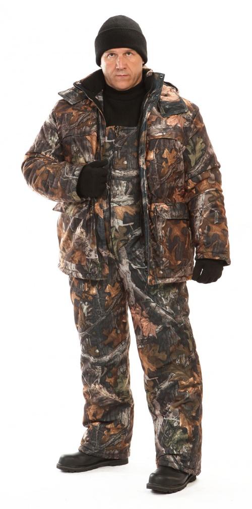Костюм мужской Вепрь зимний кмф алова Костюмы утепленные<br>888 Камуфлированный универсальный костюм <br>для охоты, рыбалки и активного отдыха при <br>низких температурах. Состоит из удлиненной <br>куртки и полукомбинезона. Куртка: • Центральная <br>застежка на молнии с ветрозащитной планкой <br>на кнопках. • Отстегивающийся и регулируемый <br>капюшон. • Регулируемая кулиса по линии <br>талии. • Нижние и верхние многофункциональные <br>накладные карманы с клапанами на контактной <br>ленте и на молнии. • Усиление в области <br>локтей. • Внутренние трикотажные манжеты <br>по низу рукавов. Полукомбинезон: • Высокая <br>грудка и спинка. • Центральная застежка <br>на молнию. • Талия регулируется эластичной <br>лентой. • Регулируемые бретели, • Верхние <br>боковые карманы<br><br>Пол: мужской<br>Размер: 60-62<br>Рост: 182-188<br>Сезон: зима<br>Цвет: коричневый<br>Материал: Алова (100% полиэстер) пл. 225 г/м.кв - трикот.полотно
