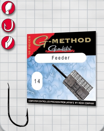 Крючок GAMAKATSU G-Method Feeder Strong B №4 (10шт.) gamakatsu g method pole competition