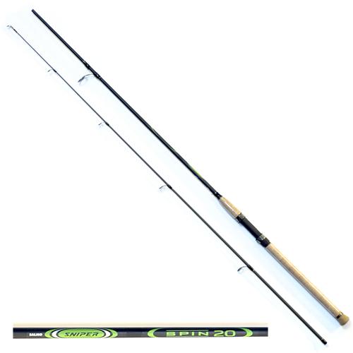 Спиннинг Salmo Sniper Spin 20 2.10/mlСпинниги<br>Удилище спин. Salmo Sniper SPIN 20 2.10 дл.2.10м/тест <br>5-20г/строй MF/кл.ML/153г/2ч./дл.тр.110см Универсальный <br>спиннинг средне-быстрого строя для ловли <br>на различные приманки, изготовленный из <br>композита. Бланк спиннинга укомплектован <br>облегченными кольцами, на высоких ножках <br>со вставками SIC и элегантной рукояткой с <br>пробковым покрытием и облегченным буфером <br>на торце. Соединение колен спиннинга по <br>типу OVER STEEK. Все спиннинги имеют один тест: <br>5–20 г. • Материал бланка удилища - композит <br>• Строй бланка средне-быстрый • Класс спиннинга <br>ML • Конструкция штекерная • Соединение <br>колен типа OVER STEEK • Кольца пропускные: – <br>облегченные большое – со вставками SIC – <br>с расстановкой по классической концепции <br>• Рукоятка: – пробковая • Катушкодержатель: <br>– винтового типа • Проволочная петля для <br>закрепления приманок<br><br>Сезон: лето