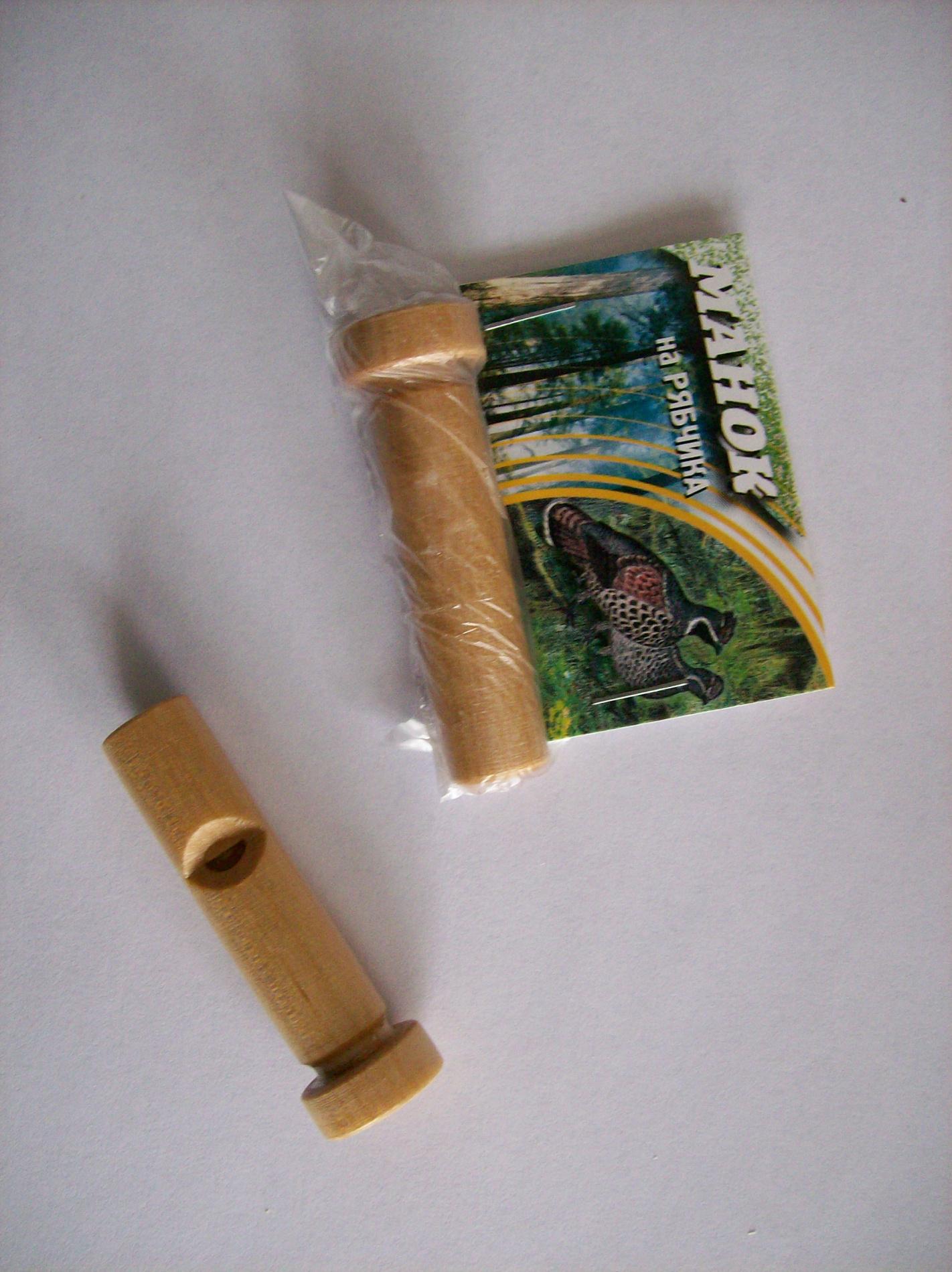 Манок на рябчика деревянныйМанки<br>Духовой манок из качественных материалов. <br>Естественное звучание.<br>