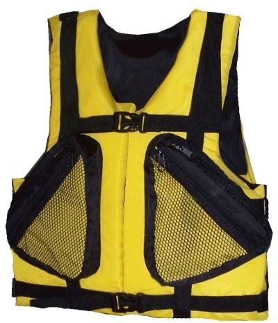 Жилет спасательный Бриз-2 р.58-64 (оранж.)Спасательные жилеты<br>Описание модели: Предназначен для использования <br>при проведении работ на плавсредствах, <br>для водных видов спорта, рыбалки, охоты. <br>Жилет является индивидуальным страховочным <br>средством, регулируется по фигуре человека <br>при помощи системы строп. На полочке и спинке <br>присутствует светоотражающая лента. Ткань <br>верха: Oxford Внутренняя ткань: Taffeta Наполнитель: <br>плавучий НПЭ. Цвет: оранжевый Застежка: <br>фастекс / пластик Два объемных кармана на <br>молнии Рекомендуемый вес на человека не <br>более (по размерам): 58-64 – 120 кг.<br>