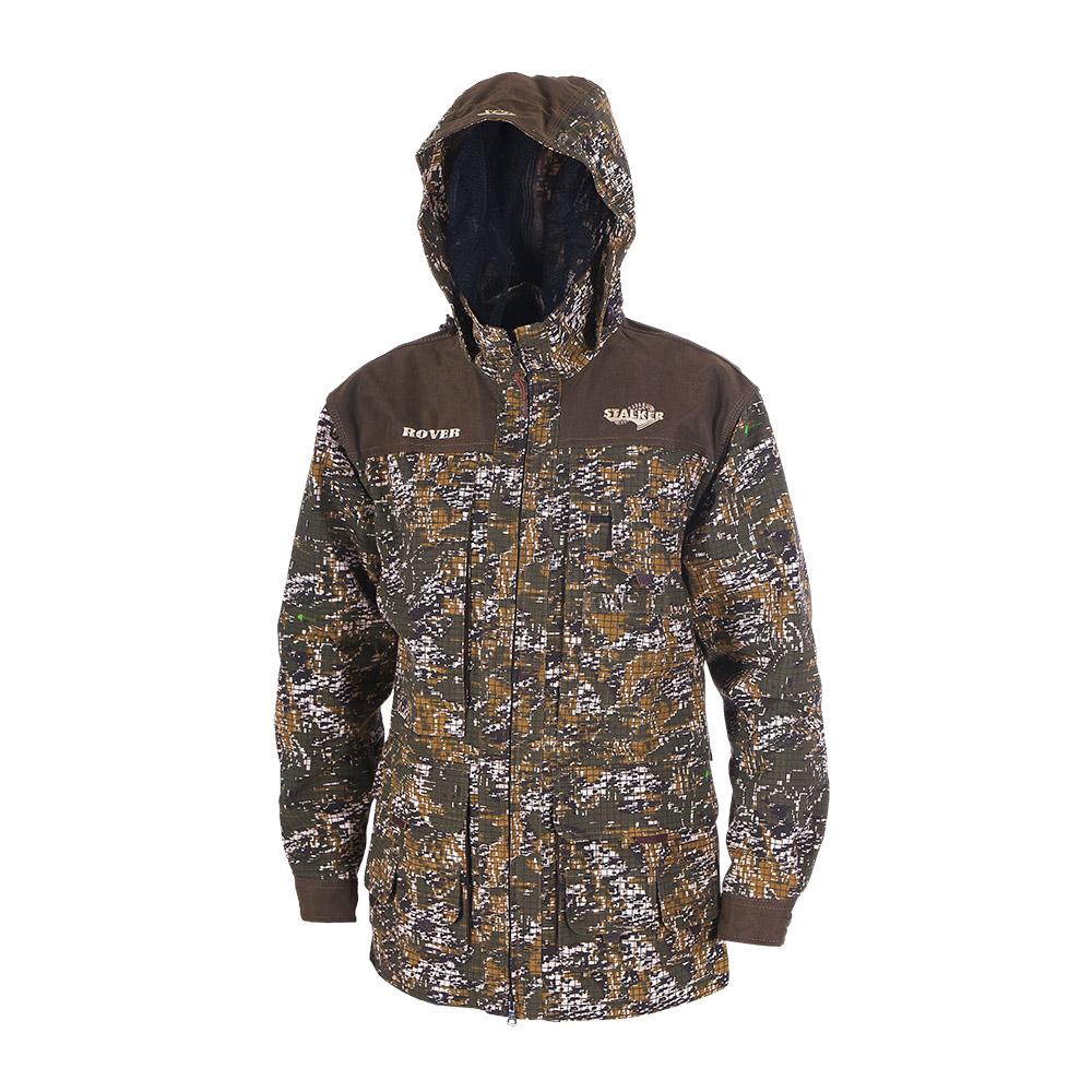 Штормовка ХСН Ровер-универсальная (9793-0) Куртки неутепленные<br>Идеально подходит для охоты, рыбалки, активного <br>отдыха. Штормовка изготовлена из не шуршащей <br>ткани с содержанием хлопка с водоотталкивающей <br>тефлоновой пропиткой. Комфортная температура <br>эксплуатации от +10°С до +20°С. Особенности: <br>- съемный утягивающийся капюшон; - вшитая <br>противомоскитная сетка; - застегивается <br>на молнию; - воротник - стойка; - манжеты на <br>пуговицах; - специальный крой рукавов, обеспечивающий <br>свободу движения; - усиленная ткань на плечах.<br><br>Пол: мужской<br>Размер: 58 - 60 / 182<br>Сезон: лето<br>Цвет: коричневый<br>Материал: Смесовая ткань с тефлоновой пропиткой