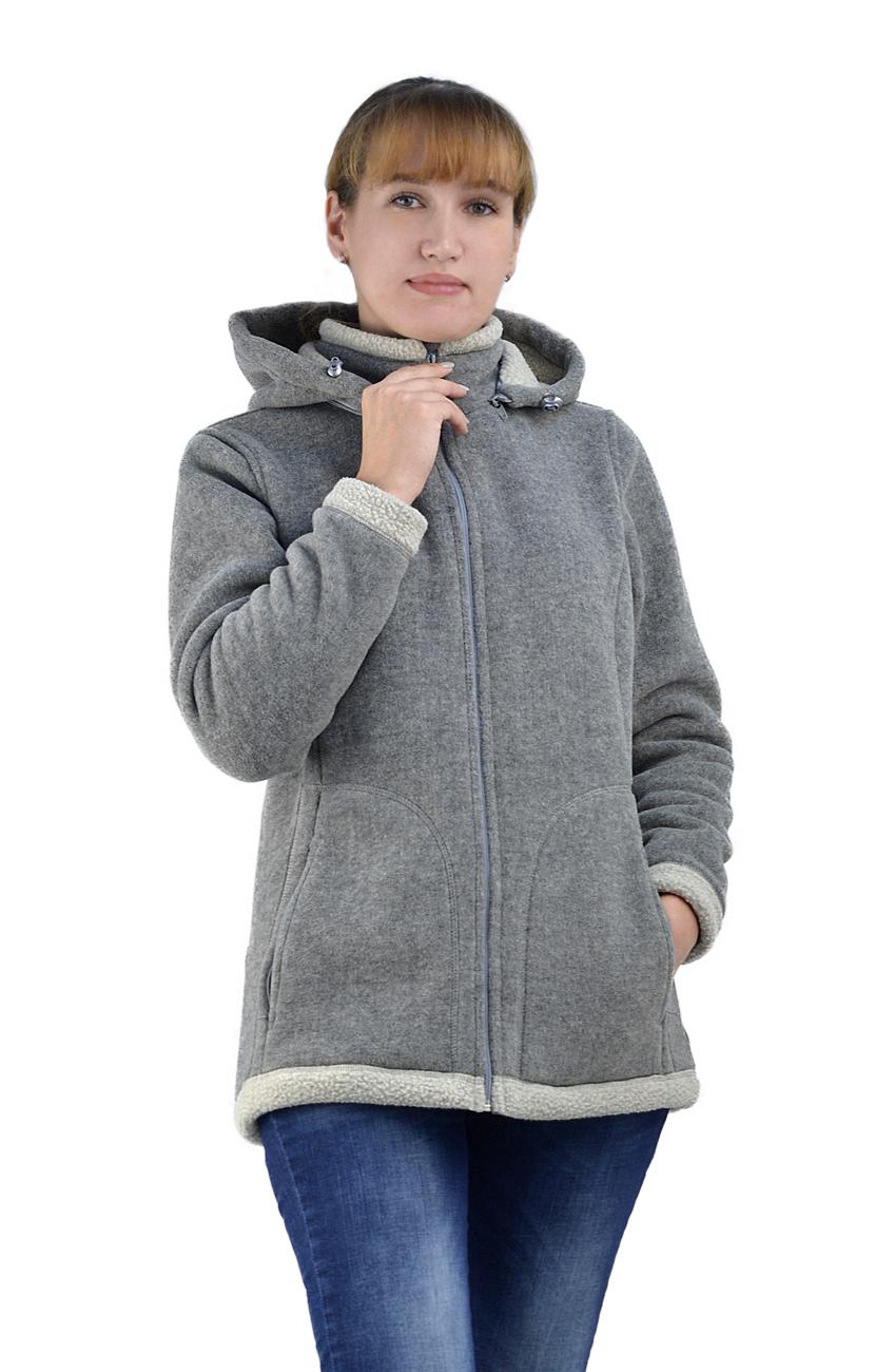 Куртка ПОЛАР SHELTER женская с капюшоном (52)Куртки флисовые<br>Мягкая, уютная, теплая, неожиданно легкая <br>куртка будет для вас незаменимой. Она может <br>стать идеальным утепляющим слоем под ветровой <br>защитой, но по погоде хороша и в качестве <br>верхней одежды. Приталенный силуэт, центральная <br>застежка на «молнию», 2 боковых кармана <br>на «молнии», воротник-стойка, пристегивающийся <br>на молнию капюшон с регулировкой объема. <br>Ткань: поларфлис 420г/м2, барашек 2-сторонний <br>двухцветный Цвет: серый Размеры 44-56 Важно!!! <br>Куртка маломерит. Для хорошей посадке по <br>фигуре необходимо заказывать на размер <br>больше.<br><br>Пол: женский<br>Размер: 52<br>Сезон: все сезоны<br>Цвет: серый<br>Материал: флис