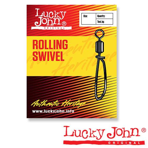 Вертлюги C Застежкой Lucky John Rolling And Convenient • K003/0 5Шт. LJ5053-K030