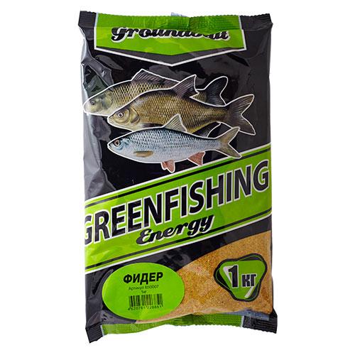 Прикормка Gf Energy Фидер 1.000КгПрикормки<br>Прикормка GF Energy ФИДЕР 1.000кг пакет 1кг/ароматика: <br>специализированная/цвет: желтый «Greenfishing <br>Energy»- новая серия первоклассной прикормки <br>от Компании «Энергия», созданная по оригинальному <br>рецепту, с использованием только лучших <br>ингредиентов от ведущих производителей <br>РФ и Европы. Это тяжелая прикормка с мелкой <br>и средней фракцией, ароматы и цвет ярко <br>выраженные, очень стойкие за счет использования <br>оригинальных технологий и современного <br>оборудования, выходит в виде целевых прикормок, <br>в каждой из которых тщательным образом <br>подобран состав, цвет и аромат к тому или <br>иному виду рыб и условиям ловли. Состав: <br>Бисквит, лен, конопля, кукуруза, злаковые, <br>сахар, соль, утяжелитель, куркума, специи, <br>пеллетс, пищевой краситель, ароматизаторы.<br><br>Сезон: лето