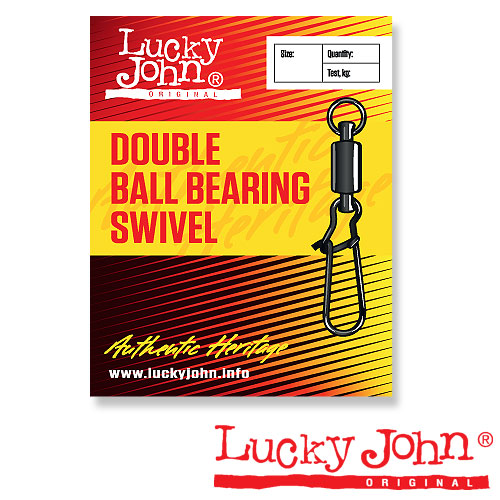 Вертлюги C Застежкой И Подш. Lucky John Double Ball • Bearing And Fastlock 004 3Шт.