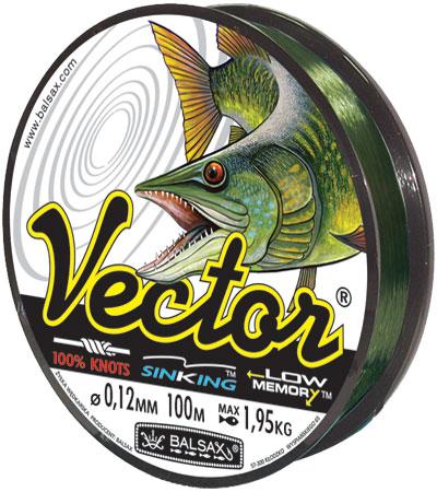Леска BALSAX Vector 100м 0,12 (1,95кг)Леска монофильная<br>VECTOR это леска обладает потрясающей прочностью. <br>Чтобы ее разорвать, нужно приложить значительно <br>большее усилие, чем для разрыва стандартной <br>лески. VECTOR амортизирует неожиданно сильные <br>рывки рыб, эластично растягивается, не рвется <br>и помогает рыболову завладеть рыбой даже <br>в самой сложной ситуации.<br><br>Сезон: лето
