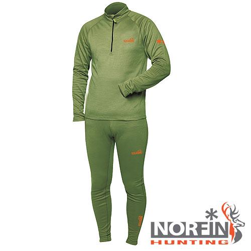 Термобелье Norfin Hunting Base (XXXL, 730006-XXXL)Комплекты термобелья<br>Термобелье Norfin Hunting BASE - мат.полиэстер/цв.зелён. <br>Термобелье изготовлено из материала, который <br>очень хорошо выводит влагу тела наружу. <br>Внутренний слой более эластичный-чем верхний, <br>лучше прилегает к телу и моментально впитывает <br>влагу, которая через внешний слой, сразу <br>выводится наружу. Согласно послойной концепции <br>Norfin является термобельем базового слоя, <br>КУРТКА: Высокий воротник Передняя застежка-молния <br>Облегающий крой ШТАНЫ: Эластичный пояс <br>Облегающий крой Материал: NORfleece Dry (100% полиэстер <br>)<br><br>Пол: мужской<br>Размер: XXXL<br>Сезон: зима
