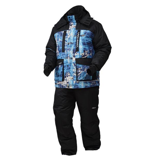 Костюм ХСН НЕРПА зимний (С302-1) (Синий лед/черный, Костюмы утепленные<br><br><br>Пол: мужской<br>Размер: 54 - 56 / 188<br>Сезон: зима<br>Цвет: голубой
