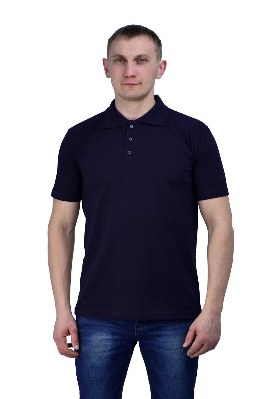 Рубашка-поло тёмно-синяя (M(48))Поло<br>- прямой силуэт - короткий рукав с манжетой <br>- застежка-планка на две пуговицы в цвет <br>Рекомендуется использовать как дополнительный <br>элемент рабочего костюма,в качестве офисной <br>одежды. пл.200 г/м2<br><br>Пол: мужской<br>Размер: M(48)<br>Сезон: лето<br>Цвет: синий<br>Материал: 100% хлопок