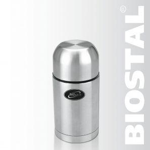Термос Biostal NG-750-1 0,75л (универсальный)Термосы<br>Легкий и прочный Сохраняет напитки и продукты <br>горячими или холодными долгое время Изготовлен <br>из высококачественной нержавеющей стали <br>Конструкция пробки позволяет использовать <br>термос как для напитков, так и для первых <br>и вторых блюд С крышкой-чашкой и дополнительной <br>пластиковой чашкой Гарантия на термос 1 <br>год. Характеристики: Артикул: NG-750-1 Объем: <br>0,75 литра Высота: 20 см Диаметр: 10,3 см Вес: <br>630 г Размеры упаковки: 10,8х10,8х21,2 см Универсальный <br>пищевой термос NG-750-1 ТМ «BIOSTAL» относится <br>к классической серии. Термосы этой серии, <br>являющейся лидером продаж, просты в использовании, <br>экономичны и многофункциональны. Универсальный <br>термос выполняет функции термоса для еды <br>(первого или второго) и термоса для напитков <br>(кофе, чая). Это достигается благодаря специальной <br>универсальной пробке, которая изготовлена <br>из прочного пластика, легко разбирается <br>для мытья и, обладая дополнительной теплоизоляцией, <br>позволяет термосу дольше хранить тепло.<br>