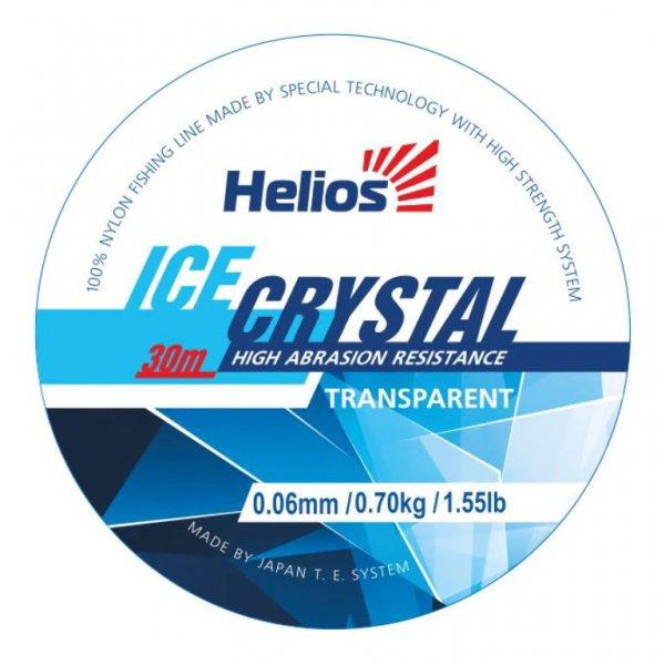 Леска Helios ICE CRYSTAL Nylon Transparent 0,08mm/30 (HS-ICT 0,08/30)Леска монофильная<br>100% нейлоновая леска. Повышенная износостойкость. <br>Практически невидима в воде. Гладкая поверхность. <br>Стойкость к обмерзанию. Отсутствие памяти. <br>Леска выпускается в размотке 30 метров следующих <br>диаметров:0,06; 0,08; 0,10; 0,12; 0,14; 0,16; 0,18; 0,20.<br><br>Сезон: зима