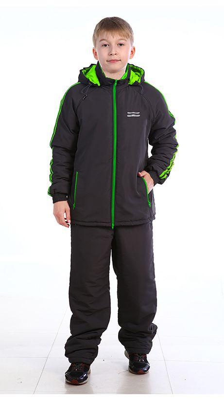 Костюм демисезонный детский Зарница (128)Костюмы утепленные<br>Костюм демисезонный куртка + брюки - центральная <br>застежка куртки на двухзамковую фронтальную <br>молнию; - капюшон пристегивается на молнию, <br>с регулировкой лицевой части по высоте <br>резиновым шнуром; - регулировка низа куртки <br>резиновым шнуром; - количество карманов <br>- 5. На куртке и брюках лампасы; Светоотражающие <br>элементы Ткань верха: Курточная Подкладка: <br>Таффета, 190Т Утеплитель: синтепон 200 г/м2 <br>На куртке и брюках лампасы; Светоотражающие <br>элементы Температурный режим: от 5 до 15°С<br><br>Рост: 128<br>Сезон: демисезонный<br>Цвет: черный<br>Материал: Курточная ткань