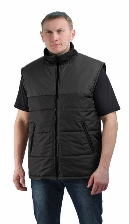 Жилет утепленный Nordwig-Rapid черный, тк дюспа Жилеты утепленные<br>Камуфлированный унверсальный летний костюм <br>для охоты, рыбалки и активного отдыха . Состоит <br>из куртки с капюшоном и брюк. Куртка: • Регулируемый <br>капюшон. • Центральная застежка молния. <br>• Боковые и нагрудный прорезные карманы <br>на молнии. • Низ куртки и манжеты на резинке. <br>Брюки: • Два врезных кармана и два накладных <br>на молнии. • Пояс и низ брюк на резинке.<br><br>Пол: мужской<br>Размер: 40-42<br>Сезон: демисезонный<br>Цвет: черный