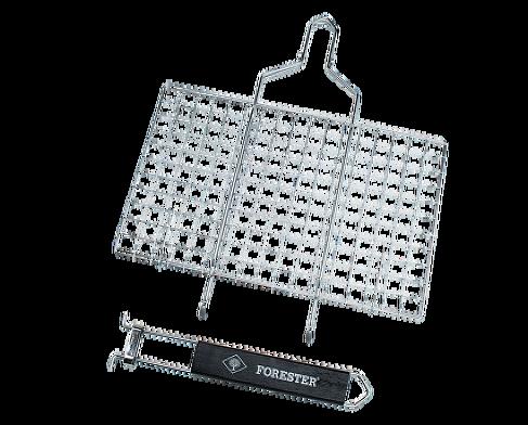 Решётка-гриль FORESTER MOBAIL. Пикник под ключ! Решетки, сковороды для гриля<br>• съемная ручка позволяет мыть решетку <br>в посудомоечной машине • компактные размеры <br>в сложенном состоянии (40х35 см) делают решетку <br>удобной в хранении и транспортировке Страна <br>производства Китай<br>