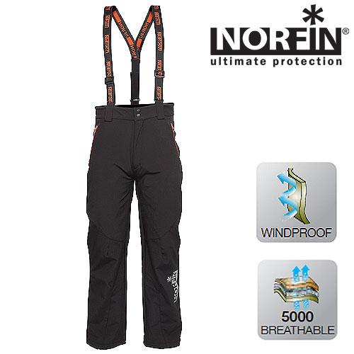 Штаны Norfin Dynamic Pants (XL, 432004-XL)Брюки софтшелл (Softshell)<br>Легкие ветрозащитные штаны изготовлены <br>из дышащего материала. Отлично подойдут <br>для любителей активного отдыха на природе, <br>рыбалки и для повседневной носки. Особенности: <br>- два боковых кармана на молнии; - дополнительное <br>усиление внизу штанин; - съемные, регулируемые <br>по длине подтяжки; - шлевки под поясной ремень; <br>- застежка-молния с двумя кнопками.<br><br>Пол: мужской<br>Размер: XL<br>Сезон: все сезоны<br>Цвет: черный<br>Материал: мембрана