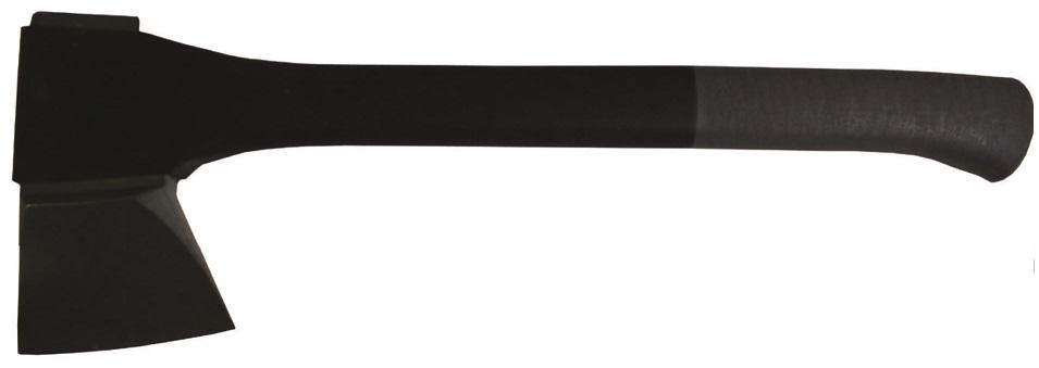"""Топор CC-AXE 044 RH SPLITTING (вес ,95 кг, длина 44,5 см)Топоры<br>Топор CC-AXE 044 RH SPLITTING (вес ,95 кг, длина 44,5 см)<br>Эта серия топоров имеет лезвие из нержавеющей <br>стали и ручки из армированного стекловолокном <br>полиамида. Для более комфортного удержания <br>топора ручка имеет обрезиненное покрытие. <br>Лезвие топора имеет профиль двойного V, <br>благодаря этому можно не только эффективно <br>колоть поленья, но и рубить небольшие деревья, <br>обрубать сучки.<br>Топоры Canadian Camper имеют закругленную форму <br>лезвия, которая усиливает рубящие свойства <br>топора. A угол и форма заточка лезвия позволяет <br>топору не заклинивать в древесине, хорошо <br>колоть дрова и дольше сохранять остроту <br>лезвия. При достаточной остроте такое лезвие <br>вполне пригодно и для плотницких работ. <br>Лезвие топоров Canadian Camper производится из <br>коррозиционностойкой, нержавеющей стали <br>420. В отличие от лезвия ножа – сталь применяемая <br>в топорах подвергается максимальным ударным <br>нагрузкам. Нержавеющая сталь 420 имеет хорошее <br>соотношение между такими параметрами твердостью <br>и вязкость. Это позволяет лезвию топору <br>выдержать большие ударные нагрузки при <br>этом длительное время сохраняя остроту. <br>Также нержавеющие свойства стали позволяют <br>минимизировать уход за топором во время <br>эксплуатации и хранения. <br>Ручка топора Canadian Camper изготовлена из стеклонаполненного <br>полиимида.&amp;nbsp;Для более комфортного удержания <br>топора ручка имеет обрезиненное покрытие.&amp;nbsp;Она <br>не требует специального каждодневного <br>ухода и определенных условий содержания, <br>у нее нет проблем с усыханием или наоборот <br>с набуханием. Минимальный вес топорища <br>относительно веса топора увеличивает силу <br>удара. Гибкость топорища из полиимида амортизирует <br>ударные нагрузки и соответственно """"не <br>сушит руку"""". Топорище оканчивается фиксирующим <br>руку утолщением с отверстием под темляк, <br>который надевается на руку, чтобы п"""