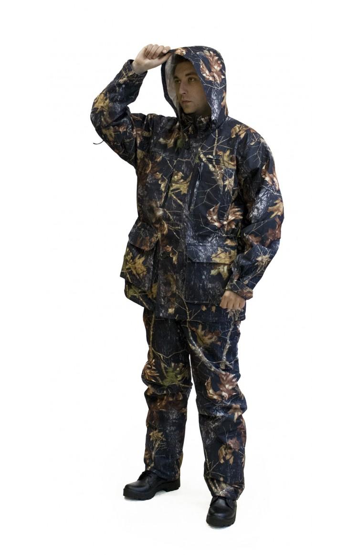 Костюм ОКРУГ® Для охоты демисезонный Костюмы мембранные<br>Модель 4215А/5213А Костюм демисезонный для <br>охоты Идеально подходит для осенне-весеннего <br>периода, в зимний — при ходовой охоте. Покрой <br>костюма удобен и не сковывает движения. <br>Куртка/модель 4215А Куртка с центральной <br>застежкой на двухзамковой молнии с ветрозащитным <br>клапаном. Воротник-стойка с капюшоном, с <br>сигнальным маркером, убираемым в воротник. <br>Девять функциональных карманов. Анатомические <br>складки на локтях — для свободы движения. <br>Внутренняя часть рукава оснащена вентиляционными <br>отверстиями с сеткой, закрывающимися на <br>молнию. Застежки закрыты клапанами, обеспечивая <br>бесшумность. Брюки/модель 5213А Брюки с высокой <br>спинкой для защиты поясницы от холода. Два <br>кармана для рук. Двойные шлевки: для ремня <br>и дополнительные, на кнопках, — для амуниции. <br>Крой низа брюк позволяет заправлять их <br>в сапоги. Материалы: ткань Алова, мембранная <br>Утеплитель: синтепон, один слой, 100 г/м2 Цвет: <br>камуфляж<br><br>Пол: мужской<br>Размер: 60<br>Рост: 170-176<br>Сезон: демисезонный<br>Цвет: коричневый