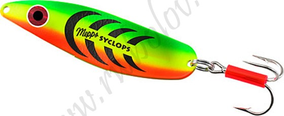Блесна колебл. MEPPS Syclops TIGER №3 (26г) 12 шт.Блесны<br><br>