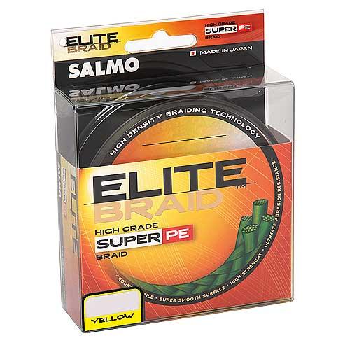 Леска Плетёная Salmo Elite Braid Yellow 091/009Леска плетеная<br>Леска плет. Salmo Elite BRAID Yellow 091/009 дл.91м/диам. <br>0.09мм/тест 3.50кг/инд.уп. Высококачественная <br>плетеная леска круглого сечения, изготовлена <br>из прочного волокна Dyneema SK65. За счет применения <br>специальной обработки волокон, ее поверхность <br>стала более «скользкой», тем самым достигается <br>максимальная дальность заброса приманки, <br>и значительно повысилась и ее износостойкость. <br>Плетеная леска отличается высокой плотностью <br>плетения, минимальным коэффициентом растяжения <br>и повышенной долговечностью. Она обладает <br>высокой чувствительностью и позволяет <br>обеспечить постоянный контакт с приманкой, <br>независимо от расстояния до ней, что крайне <br>необходимо для своевременной подсечки. <br>Высокая ее прочность допускает использование <br>более тонких диаметров плетеной лески и <br>ловить крупную рыбу. Волокона плетеной <br>лески практически не пропитываются водой, <br>что совместно со специальной пропиткой, <br>позволяет ловить ею рыбу при отрицательных <br>температурах. Изготовлена в Японии. • высокая <br>прочность • круглое сечение • повышенная <br>износ<br><br>Цвет: желтый