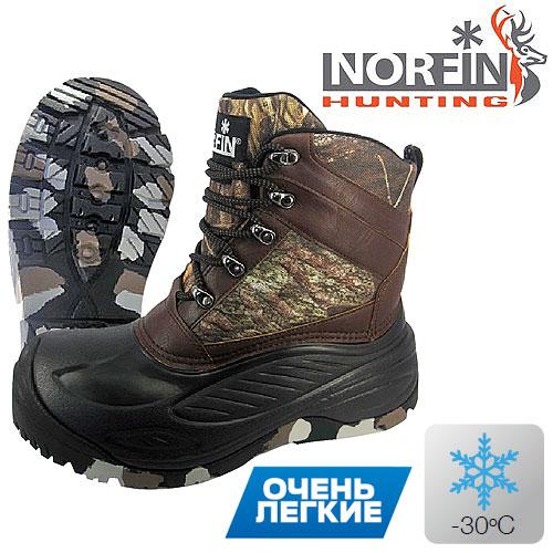 Ботинки Зимние Norfin Hunting Discovery (45, 15950-45)Ботинки для активного отдыха<br>Ботинки зим. Norfin Hunting DISCOVERY, мат.EVA, резина/темп.-40град.С <br>теплые камуфлированные ботинки, разработанные <br>специально для любителей охоты в зимний <br>период. для повышения износостойко- сти, <br>в носовой части и на пятке используется <br>особо прочная резина. гибкая и надежная <br>резиновая подошва обеспечивает безопасное <br>сцепление на ледяной и скользкой поверхности. <br>Вынимаемый вкла- дыш имеет трехслойную <br>конструкцию, в которую входят термоизо- <br>лирующие материалы – войлок, фольгированная <br>ткань с сетчатой поверхностью и утеплитель <br>Thinsulate™ 400G alTRa. для обе- спечения дополнительной <br>термоизоляции внутренняя подкладка сапог <br>оснащена высококачественным утеплителем <br>Thinsulate™. ? Легкие и прочные ? Комфортная температура <br>до -30°С ? Вынимаемый трехслойный вкладыш <br>? Утеплитель Thinsulate™ 400G alTRa ? Влагостойкий <br>материал ? Высокая износостойкость Материалы: <br>Верхняя часть: 600d НЕЙЛОН + PU Подошва: РЕЗИНА <br>+ eVa Утеплитель: Thinsulate™ (100% полиэстер)<br><br>Пол: мужской<br>Размер: 45<br>Сезон: зима<br>Цвет: коричневый