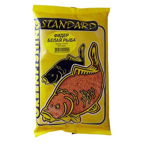 Прикормка Gf Standard Фидер Белая Рыба 0.800КгПрикормки<br>Прикормка GF Standard ФИДЕР БЕЛАЯ РЫБА 0.800кг <br>пакет 0,8кг/ароматика: анис/цвет: оранжевый/смесь <br>Прикормки ТМ Greenfishing серия STANDARD – покупатель <br>получает продукт высокого качества за небольшую <br>стоимость, в основе прикормки: высококачественные <br>бисквиты, кондитерские ингредиенты, печенье, <br>масленичные зерновые, импортные ароматизаторы. <br>Фракция прикормки однородная, что является <br>плюсом в приманивании рыбы, с хорошим пофракционным <br>распадом.<br><br>Сезон: лето