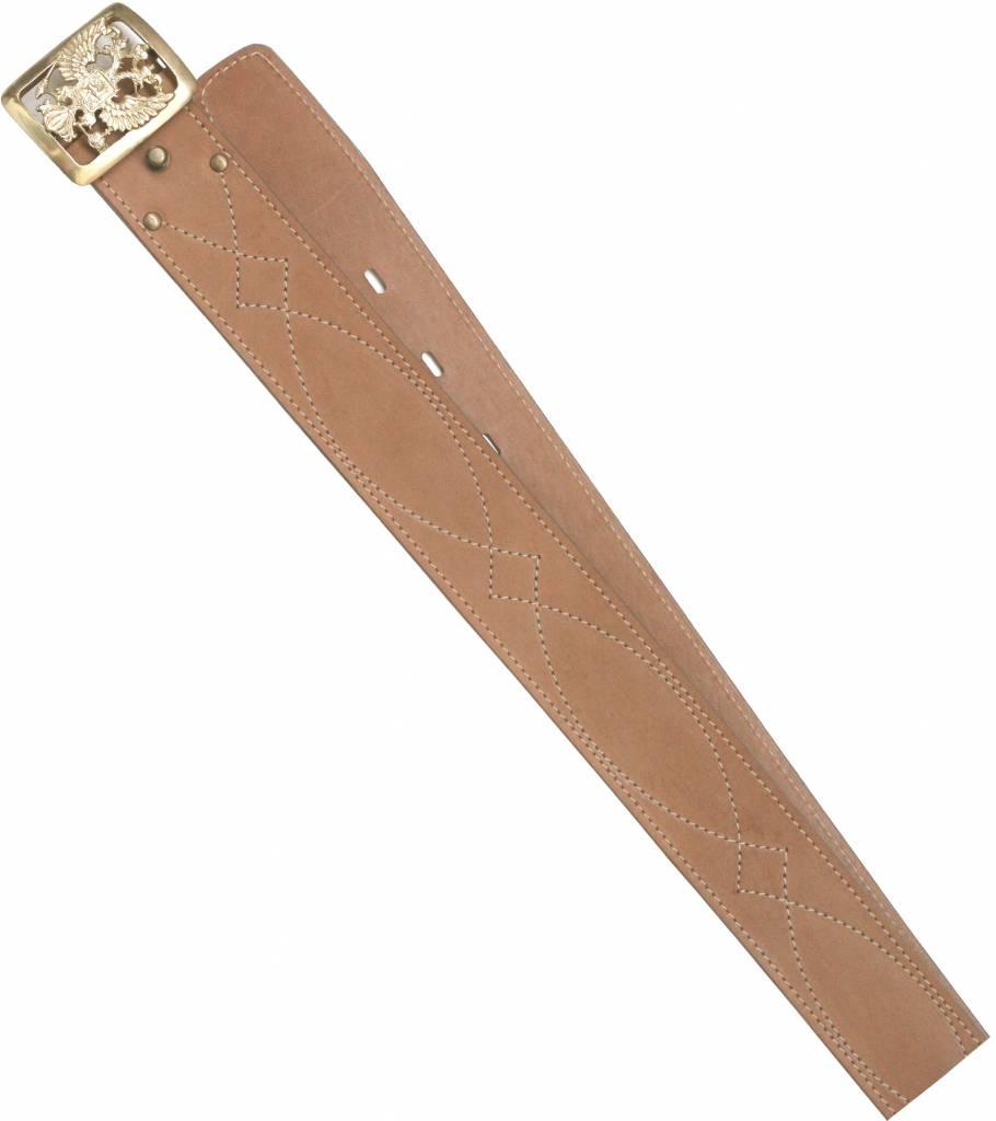 Ремень ХСН поясной «Патриот» 50 мм (№ 1 - Ремни<br>Ремень изготовлен в традиционной форме <br>из натуральной кожи. Итальянская фурнитура <br>практически не звенит и не дает бликов. <br>Элитная кожа натурального сквозного прокраса. <br>Особенности: - ширина 50 мм<br><br>Пол: мужской<br>Размер: № 1 - 110 см<br>Сезон: все сезоны<br>Материал: Натуральная кожа