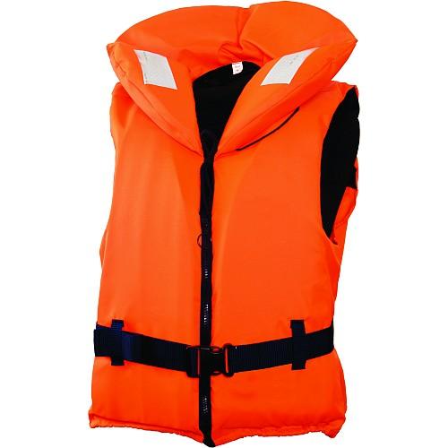 Жилет Спасательный Детский С Воротником Жилеты спасательные<br>Предназначен для удерживания детей на <br>воде, указанный вес 30-40 кг. Особенности: <br>- большой плавающий воротник; - застегивается <br>на застежку-молнию; - пояс с замком Nexus; - <br>специальный ремень для нижней фиксации; <br>- две веревочные стяжки; - свисток; - светоотражающие <br>нашивки.<br><br>Пол: унисекс<br>Сезон: лето<br>Цвет: оранжевый