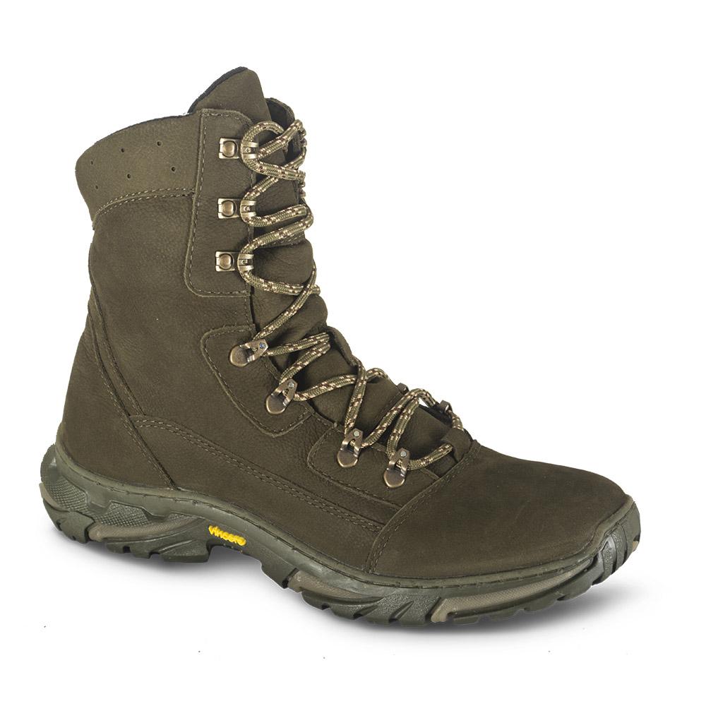 Ботинки ХСН Странник зима (598-6) (Хаки, 42, Ботинки для активного отдыха<br>Отлично подойдут для охоты, рыбалки и активного <br>отдыха зимой. Комфортная температура эксплуатации: <br>от -15° до - 0°С. Особенности: - поддаются аэрозольной <br>обработке; - обладают дышащими свойствами; <br>- легкие и прочные; - глухой клапан; - потоотводящий <br>материал cambrelle; - усиливающие элементы в <br>носовой и пяточной частях; - металлический <br>супинатор; - противоскользящая подошва.<br><br>Пол: мужской<br>Размер: 42<br>Сезон: зима<br>Цвет: оливковый<br>Материал: Нубук