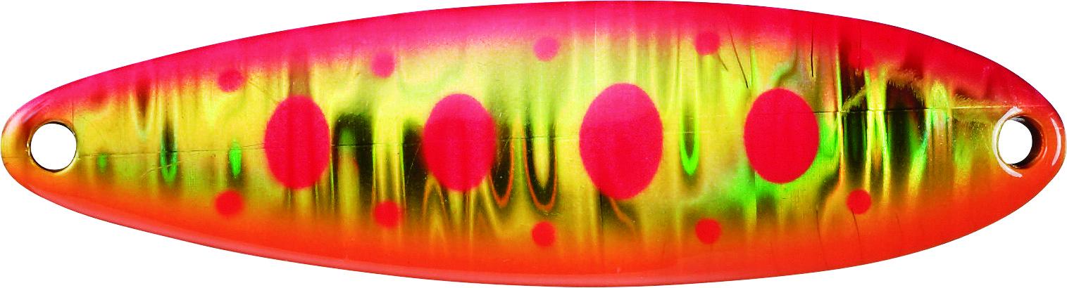 Блесна колебл. DAIWA Laser Chinook S G Pink YamameБлесны<br>LASER CHINOOK S Сохраняет все необходимые характеристики <br>для форелевой рыбалки. Голографическое <br>покрытие для большей привлекательности.<br>